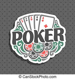 Vector logo Poker