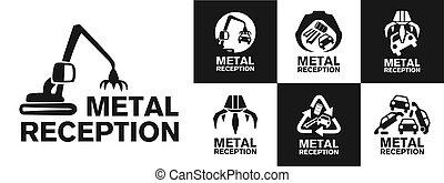 vector logo reception and utilization scrap metal - vector ...