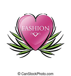 vector logo red heart for fashion