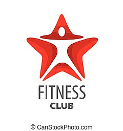 vector logo red star for fitness club