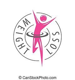 vector logo running man for weight loss