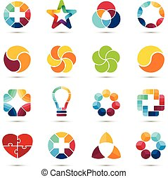Vector logo set. Circle  signs and symbols. Design elements.