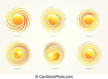 vector, logo, set, zon