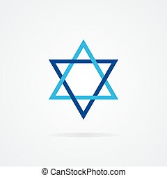 Vector logo Shield of David - Vector logo design element...