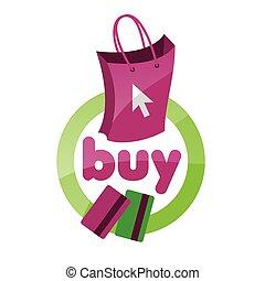 vector logo shopping bag, basket