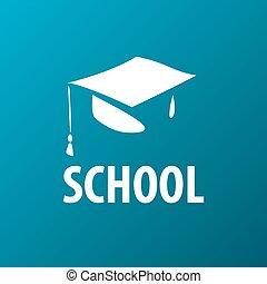 vector logo square academic cap