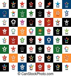 vector logo star - Abstract star sign Branding Identity ...