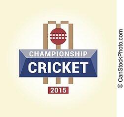 Vector logo template championship cricket.