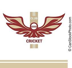 Vector logo template cricket club.