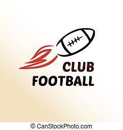 Vector logo template football club, rugby.