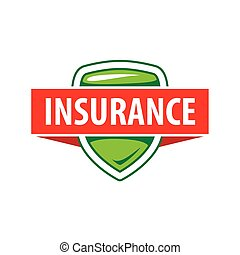 Vector logo template for an insurance company