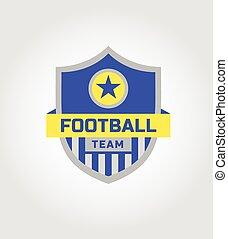 Vector logo template soccer football team.