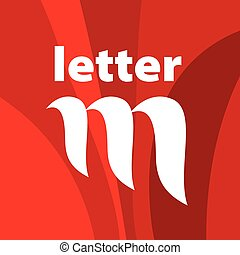 vector logo the letter M on a red background