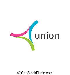 vector logo union - pattern design logo union. Vector...