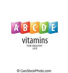 vector logo vitamins - abstract vector template logo...