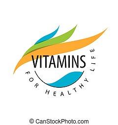 vector logo vitamins colored petals