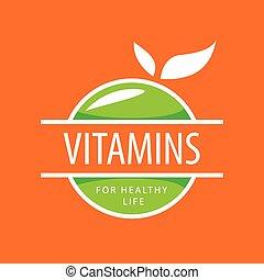 vector logo vitamins green apples