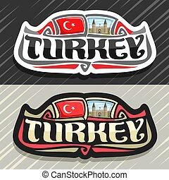 vector, logo, voor, turkije