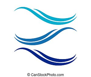 Vector Logo with blue sea waves.