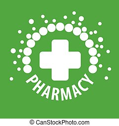 vector logo with pills on a green background