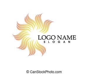 vector, logo, zon, mal