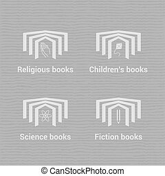 Vector logo/icons set for bookstore
