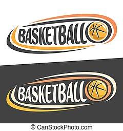 Vector logos for Basketball sport