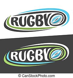 Vector logos for Rugby sport