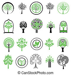 vector logos with trees