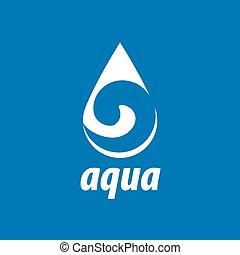 vector, logotipo, agua