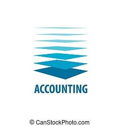 vector, logotipo, contabilidad