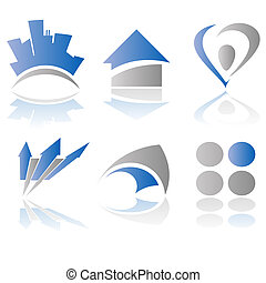 vector, logotipo, elementos