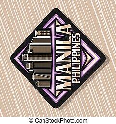 vector, logotipo, manila