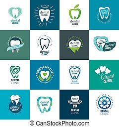 vector, logotipo, odontología