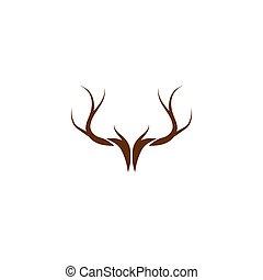 vector, logotipo, venado, ilustration, asta