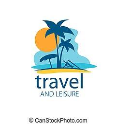 vector, logotipo, viaje