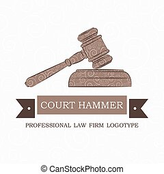 vector logotype for law firm, attorney or lawyer