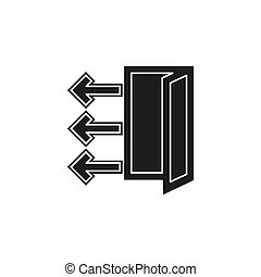 vector logout icon - exit sign or register logout button