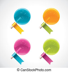 Vector lollipops with ribbons