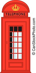 Vector London Red Telephone Box