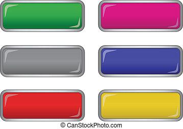 vector long buttons - vector long buttons