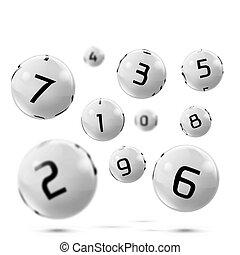 Vector lotto, bingo grey balls with numbers