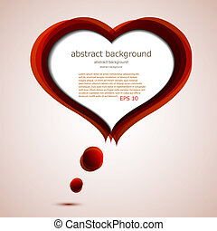 vector love background with place for your text. Eps10