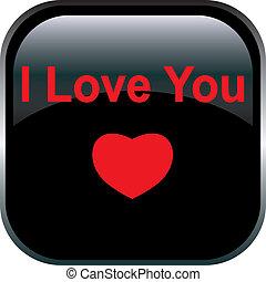 Vector love Button.