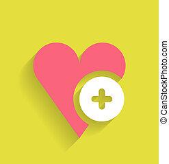 Vector love flat icon design