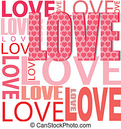 vector love - illustration of abstract vector background ...