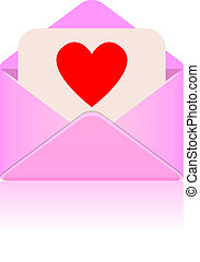 Vector love message
