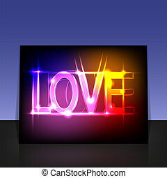 vector Love poster for your design