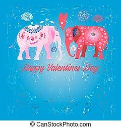 Lovers funny elephants