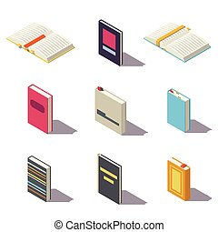 Vector low poly book